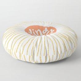 Solar 'Kind is Cool' - peach & gold #positiveart Floor Pillow