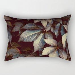 green plant leaves nature atumn season Rectangular Pillow