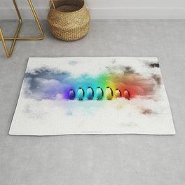 Rainbow Penguins Rug