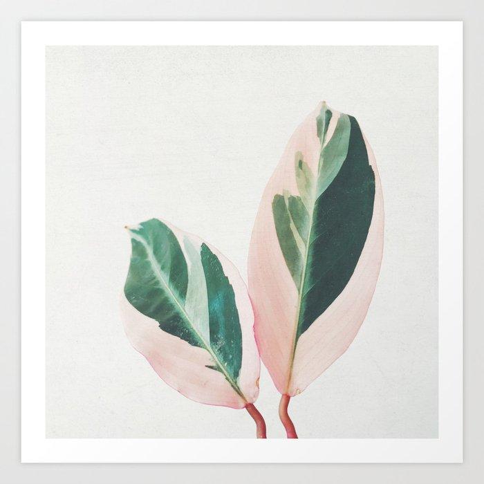 Pink Leaves I Kunstdrucke