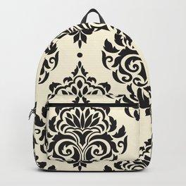 Black and White Damask Backpack