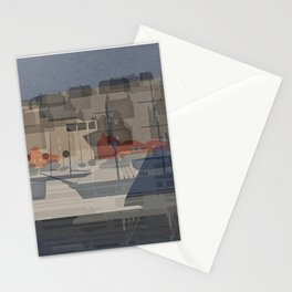 Mothership (Stromness harbor with boats) Stationery Cards