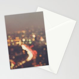 Los Angeles at night photo. Abstract Mulholland Stationery Cards