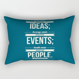 Lab No. 4 - Eleanor Roosevelt Typography Print art Inspirational Quote Poster Rectangular Pillow