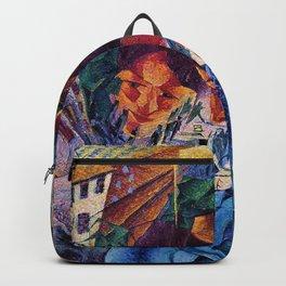 Visioni simultanee - Simultaneous Vision by Umberto Boccioni Backpack