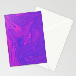 Holographic background in neon colors. Background with neon metallic gradient hologram. Stationery Cards
