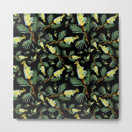 Australian Native Floral Pattern - Beautiful Grevillea Metal Print