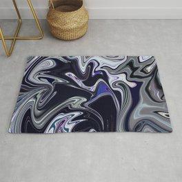 Mixed dark abstract Rug