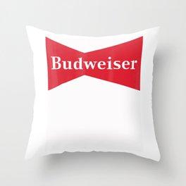Budweiser Vintage Bowtie T-Shirt Throw Pillow