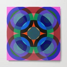 Blosomah - Colorful Abstract Art Metal Print
