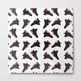 Jordan 6 OG Infrared Black - Pattern Metal Print