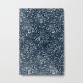 eyes adorned - stone blue woven Metal Print
