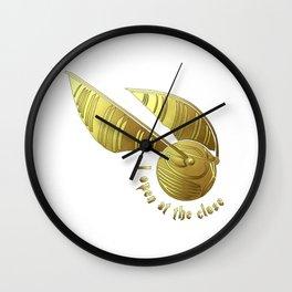 Golden Snitch Wall Clock