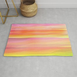 Seascape in Shades of Yellow and Peach Rug