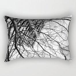 Tree Business Nature Merge BW Rectangular Pillow