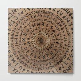 Elder Futhark Circular Composition Metal Print