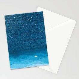 Ornament sky, nautical blue Stationery Cards