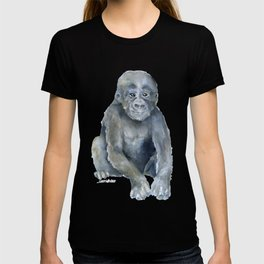 Baby Gorilla Watercolor T-shirt