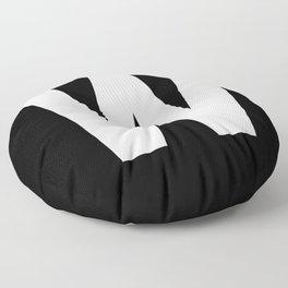 Letter W (White & Black) Floor Pillow
