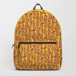 Bacon breakfast on yellow Backpack