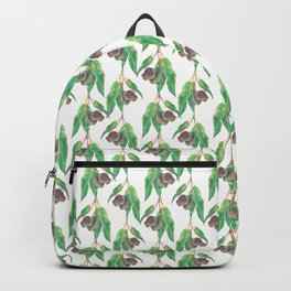 Eucalyptus tree branch with gumnuts watercolour Backpack