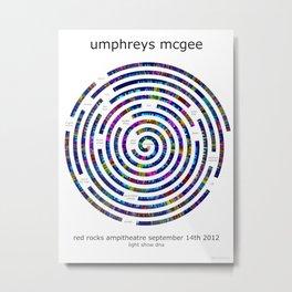 Umphrey's McGee Red Rocks 2012 Spiral Art Metal Print
