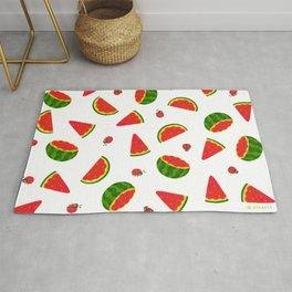 Watermelon&ladybug Rug