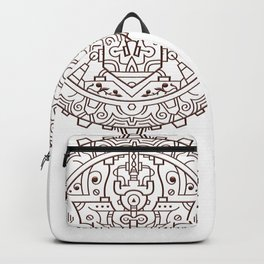 Steampunk Headphone Mandala Backpack