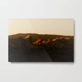 Last Light at Vasquez Rocks Metal Print
