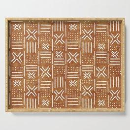 Mudcloth - tribal decor, mud cloth decor, mud cloth bedding, mudcloth curtains, rust, rust color, trendy decor Serving Tray