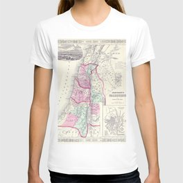 Old 1864 Historic State of Palestine Map T-shirt