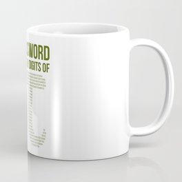 Funny  Pi number password,  Math Teacher Geek Gift Coffee Mug
