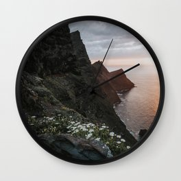 Ocean Sunset - Landscape and Nature Photography Wall Clock