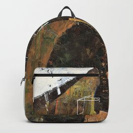 Egon Schiele - Landscape with Ravens - Digital Remastered Edition Backpack