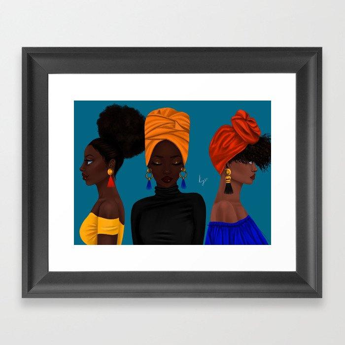 afrocentric Gerahmter Kunstdruck