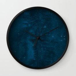 Abstract Riverbed in Space and Iceland – Landscape Photography Wall Clock