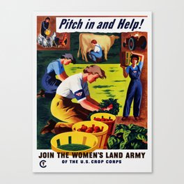 Join The Women's Land Army Canvas Print