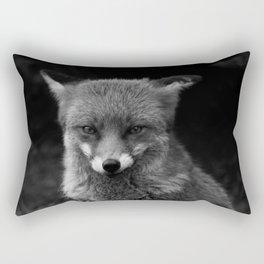 Fox In Black And White Rectangular Pillow