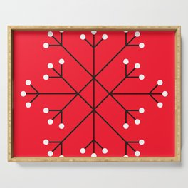 Mod Snowflake Dark Cherry Serving Tray