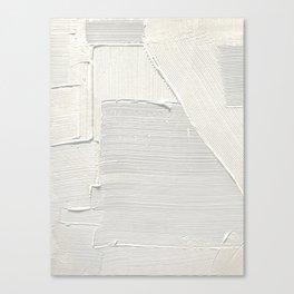 Relief [2]: an abstract, textured piece in white by Alyssa Hamilton Art Leinwanddruck