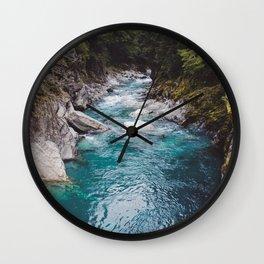 Blue Pools Wall Clock