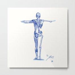 Human body black and white Metal Print