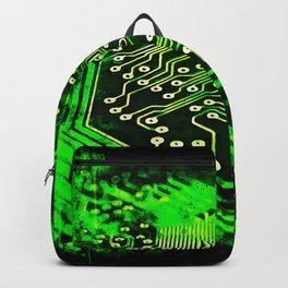 platine board conductor tracks splatter watercolor Backpack