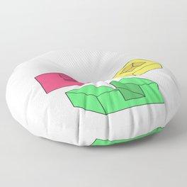 Funny Pointless T-Shirt Design GEOMETRY Floor Pillow