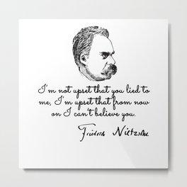 Quotes by nietzsche Metal Print