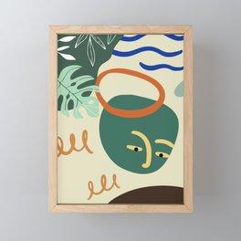 Minimal Contemporary Wall Art Affiche de formes abstraites Leaf Face Art Print Framed Mini Art Print