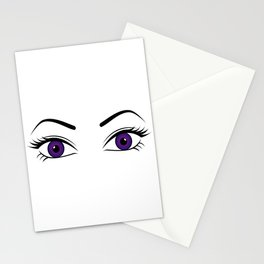 Violet Eyes (Both Eyes Open) Stationery Cards