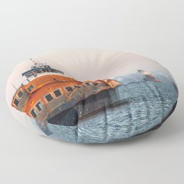 Lighthouse & Staten Island Ferry Floor Pillow
