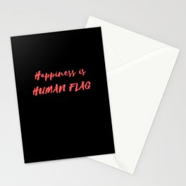 Happiness is Human Flag Stationery Cards