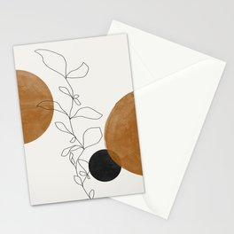 Abstract Plant Stationery Cards
